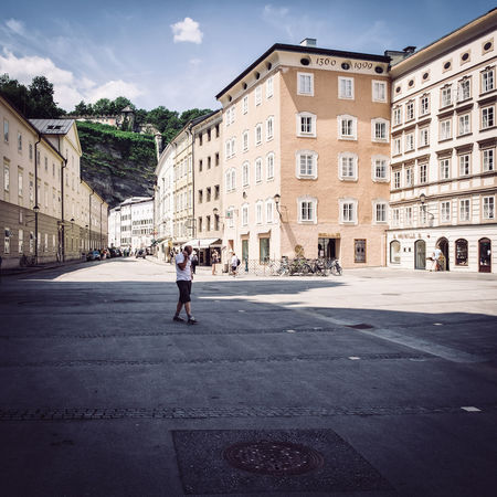 Man Architecture City Day Full Length History Outdoors People Road Salzburg Street Street Photography Streetphotography