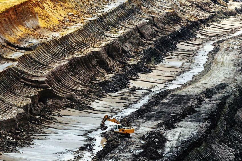 Tagebau #1 Garzweiler Tagebau Coal Coal Mine Surface Mine Kohle Bergbau Germany NRW Backgrounds