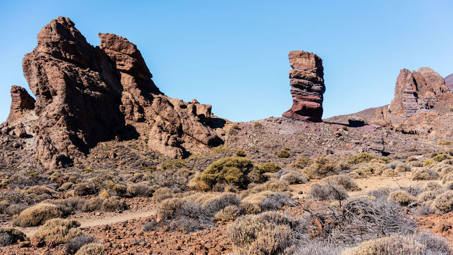 Desert Teide National Park Arid Climate Beauty In Nature Canyon Clear Sky Climate Environment Eroded Formation Geology Land Landscape Mountain Nature No People Non-urban Scene Outdoors Physical Geography Remote Rock Rock - Object Rock Formation Scenics - Nature Sky Solid Tenerife Tranquil Scene Tranquility The Great Outdoors - 2018 EyeEm Awards The Traveler - 2018 EyeEm Awards