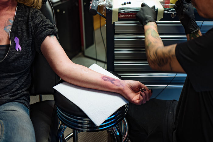 Casual Clothing Colitis Crohns Crohnsdisease Day Leisure Activity Lifestyles Midsection Part Of Sitting Skill  Tattoo Tattooing Worldibdday