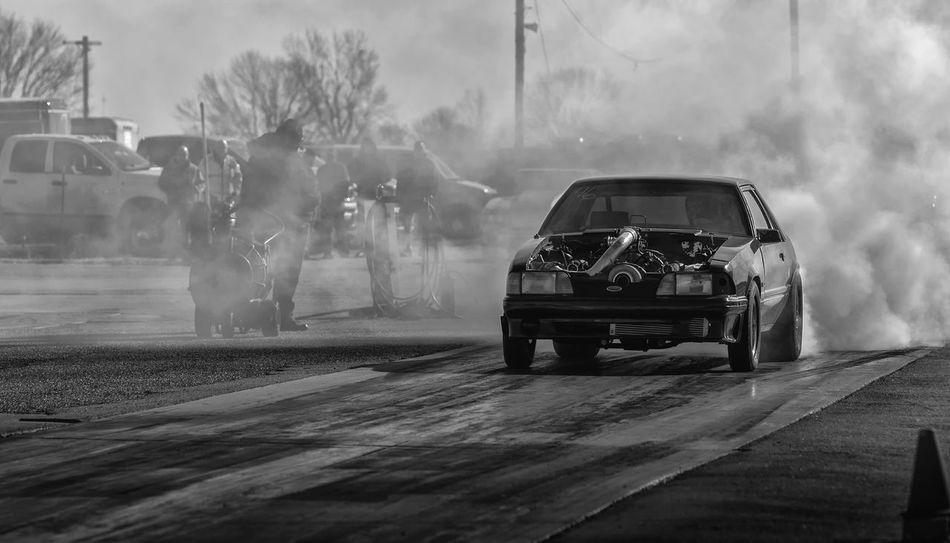 Ford Blackandwhitephotography Blackandwhite Dragracing Racetrack Fordmustang