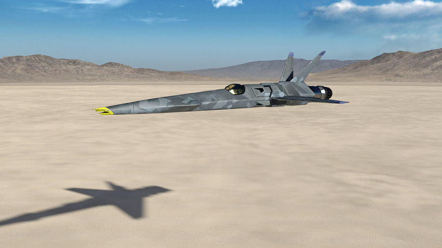 Fighter Jet, futuristic military airplane flying over a desert with blue sky and mountains in the background, 3D render Plane Aircraft Fighter Jet Fighter Plane Air Vehicle Air Force Military Airplane Supersonic Plane Tactical Fighter Jet Fighter Desert Sky Cloud - Sky Clouds Mountains Horizon Piloting Military Aircraft Wings Flying Flight Flying Object Cockpit Armed Forces Aerospace Industry
