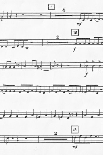 Sheet music 4/4 Time Composition Backgrounds Bass Clef Chorus Close-up Day Eighth Notes Flat Full Frame Half Notes In A Row Musical Note No People Number Outdoors Paper Pattern Quarter Notes Score Sheet Music Treble Clef Whole Notes