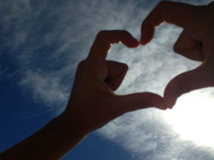 Amici❤️ Human Hand Hand Human Body Part Love Heart Shape People Positive Emotion Emotion Sky Romance Two People