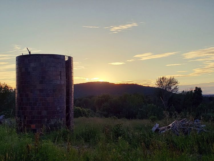 Agriculture Sunset Sky Architecture Grass Built Structure
