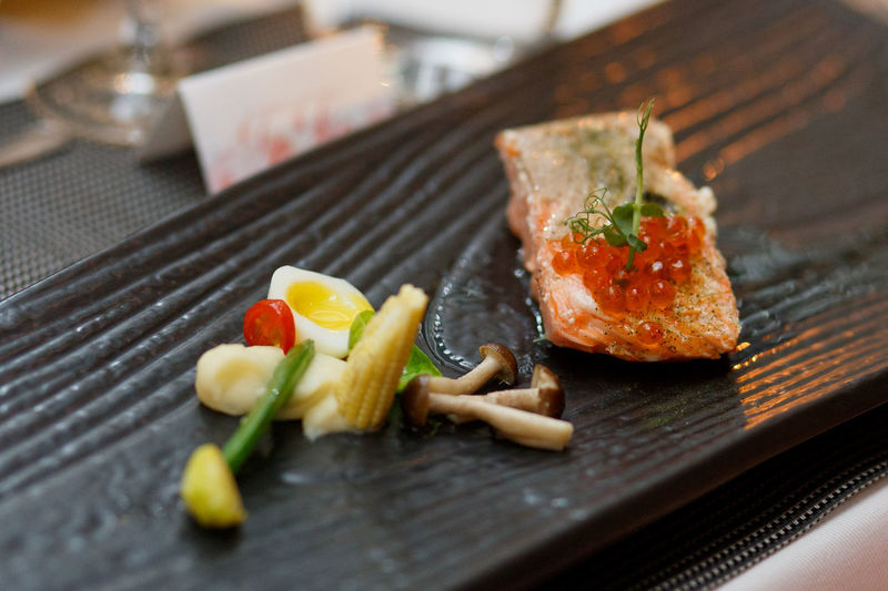 Chef recommended! Chef's Special Close-up Cuisine Day Dinner Fine Dining Food Food And Drink Freshness Healthy Eating Indoors  No People Ready-to-eat Recommendation Salmon Simplicity Food Stories