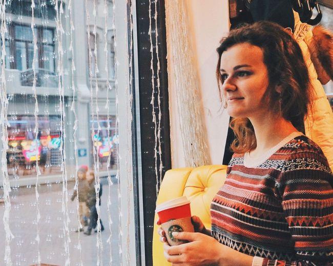 That's Me Relaxing Hi! Starbucks 🙈👯