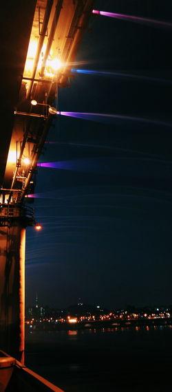 Seoul South Korea Banpo Hangang Park Banpo Dusk Evening Sky Sky Evening Bridges Lights Laser Show Water Show Purple