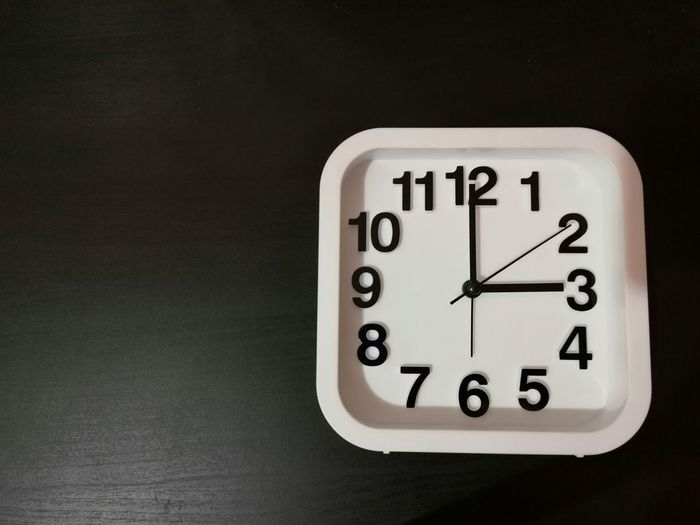 Clock shown 3