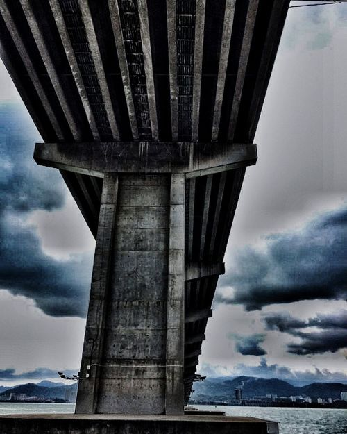 Clouds And Sky City View  Sea And Sky Photooftheday Bridge View Built Structure Eyeme New Here