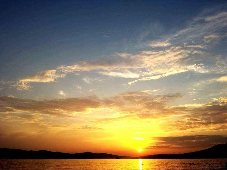 Ciovoisland Sunset Burning Sky