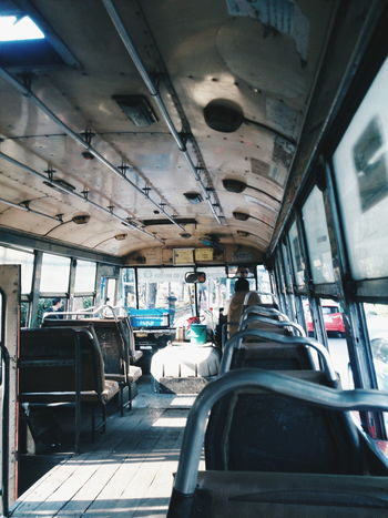 Bus Day Journey Land Vehicle Mode Of Transport No People On The Move Public Transportation Transportation Travel Vehicle Interior Vehicle Seat Window