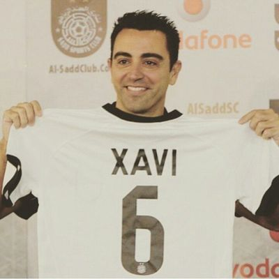 Good luck el maestro xavi hernandes 6raciesXavi