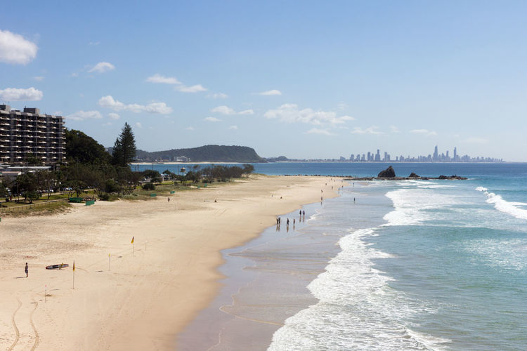 Currumbin Queenslan Surfer's Paradise Australia Beach Blue Clouds Coast Copyspace Gold Coast North End Ocean People Sand Sea Sky Summer Sun Surf White Sand