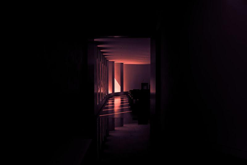 Architecture Dark Lakewood Pink Indoors  Light And Shadow Mausoleum Neon Noir Noir Pink Color