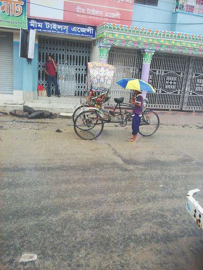 Dhaka On Eyeem Rain Bangladesh Alauddin Umbrella Rickshaw Street Photography