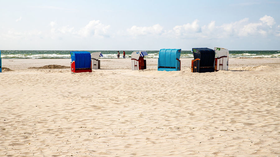 Beach chairs on