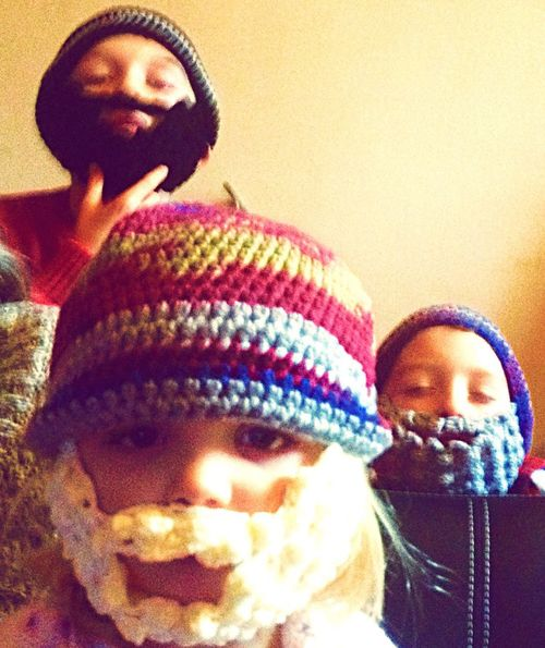 Knitting Hat Beard Children