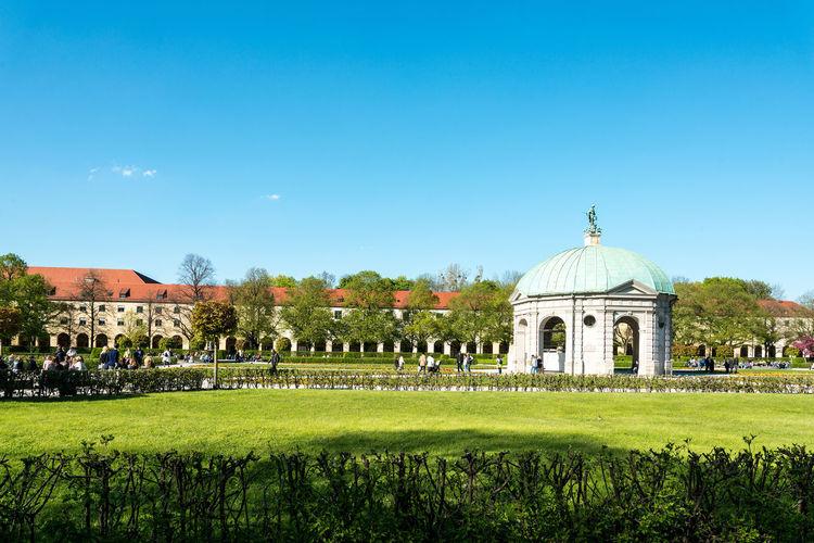 Gazebo In Hofgarten Against Blue Sky