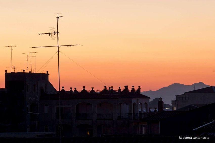 Sunset Sicily Italy Orange Sky EyeEm Phrobisantos