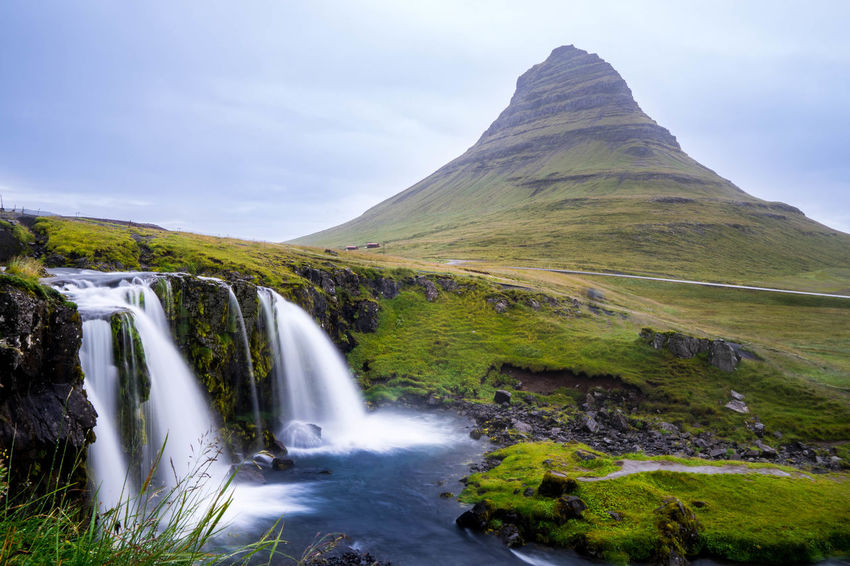 Iceland Islanda Iceland Memories Iceland_collection Icelandic Kirkjufell Long Exposure Non-urban Scene Nature Mountain Flowing Water Stream - Flowing Water Power In Nature Beauty In Nature Scenics - Nature West Fjords West Iceland Waterfall
