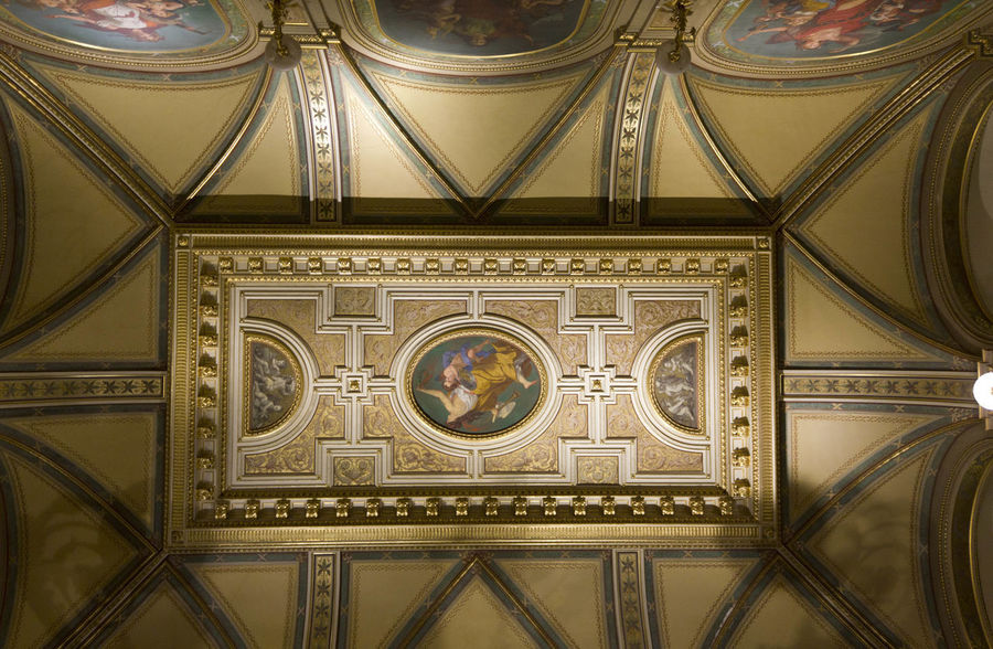 Ceiling of Vienna Opera House Ceiling Historical Building Interiors Opéra Theater Vienna Architecture Art Ceiling Design Close-up Decoration Historic Indoors  No People Opera House Operahouse Pattern Royal Staatsoper Theatre Wien Wiener