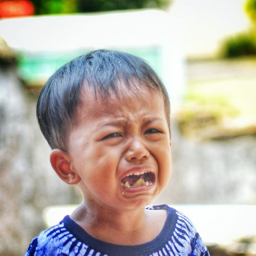 don't cry my son... Childhood Boys Child People Happiness