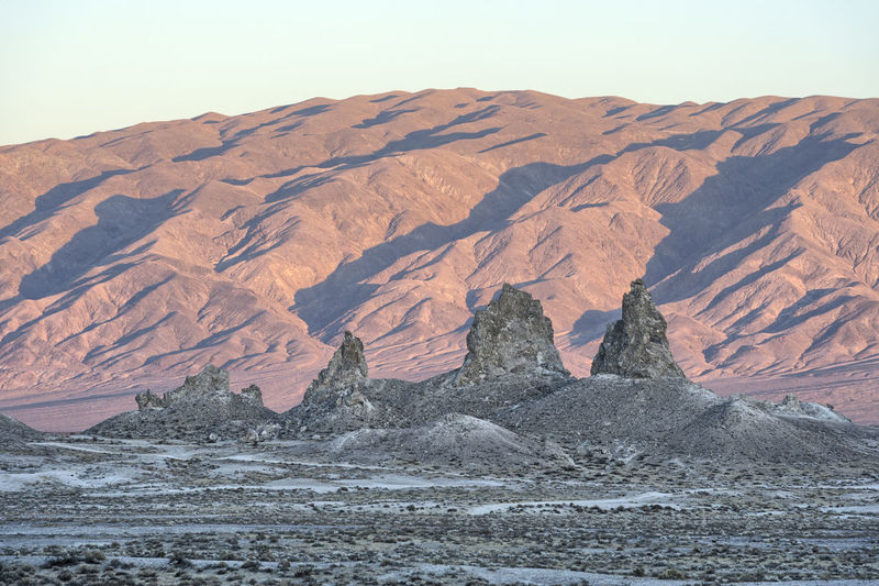 Scenic view of rock formation at desert against sky