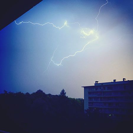Éclaire Lightning Storm Ciel Storm Orage Iphone6s Beauty In Nature Sky Nature