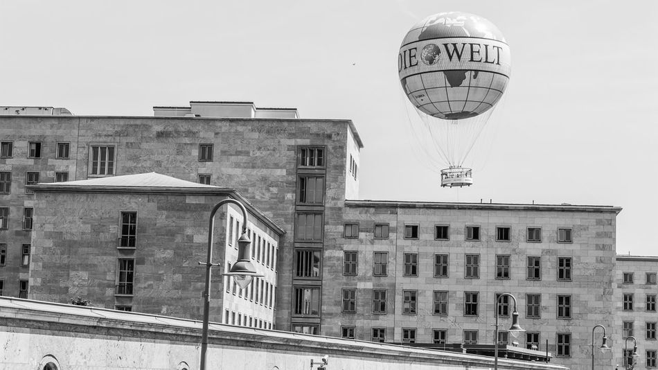 Architecture Balloon Berlin Blackandwhite Blackandwhite Photography Building Exterior City Life Cityscape Day Die Welt Le Monde Mundo No People Outdoors Sky Street The World