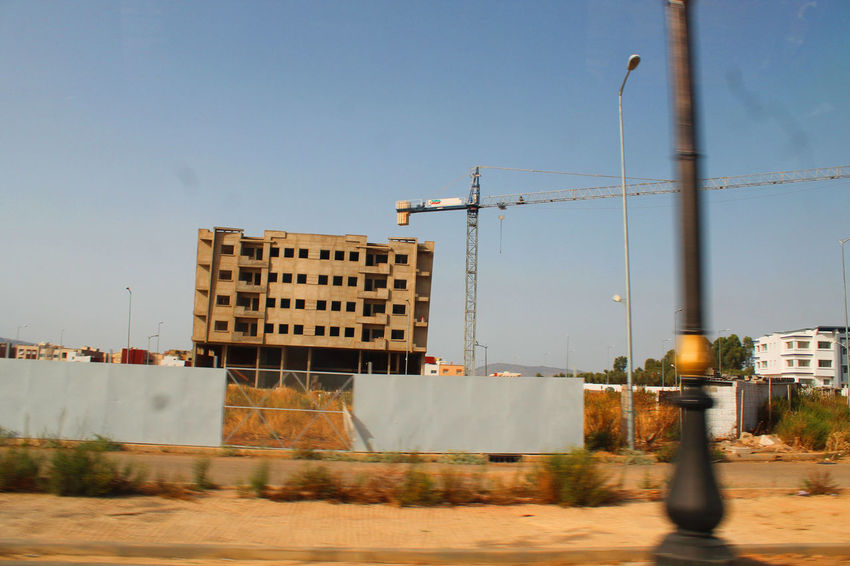 Architecture Construction Construction Crane Architecture Building City Clear Sky Day Residential Building