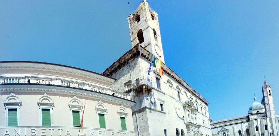 piazza del popolo, Ascoli Piceno Ascoli Piceno City Blue Clear Sky History Sky Architecture Building Exterior Built Structure Palace Past Museum
