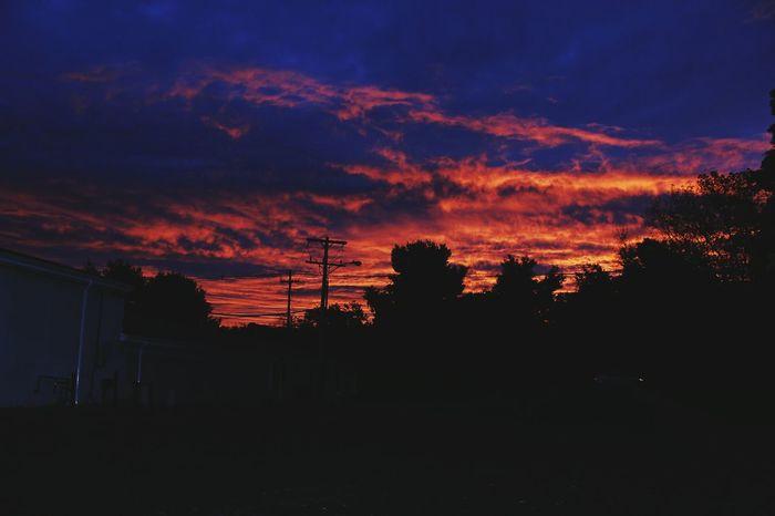 Burning Sky Fire In The Sky Beauty Night Colorz~
