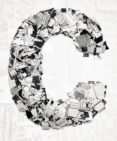 BIG Macro Photography Multiple Layers Newsprint Printed Text The Media Typography Capital Letter Confetti Design Detail Monochrome Montage News Newspaper Paper Printed Media Toned Image