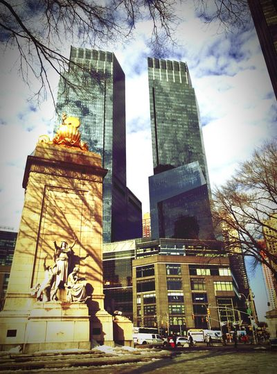 The Best Of New York Goodmorning EyeEm  Columbus Circle New York Reflection Skyline Discover Your City
