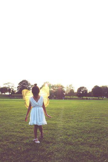 My little pixie EyeEm Best Shots Eyeemphoto Inigma India Bah-nelson London Love Outdoors Fairies Fairy Fairytale  Wings Pixie Photoshoot Sunset Little Girl Beautiful Enchanted  EyeEm Selects #FREIHEITBERLIN