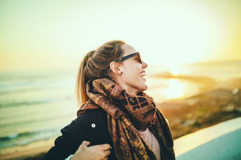 Traveling portugal One Person Sunlight Girl Smile Laughing Sunset Colorful Sunglasses Colorful First Eyeem Photo