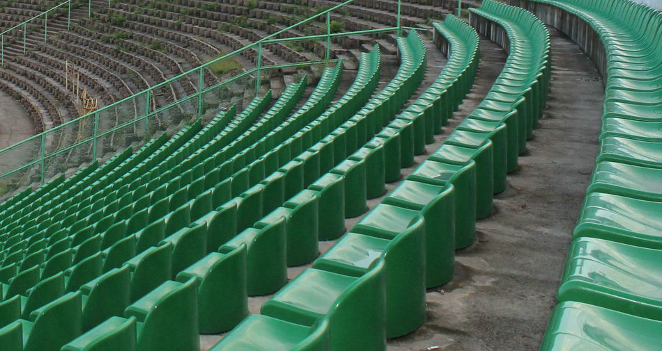 Chairs in a stadium