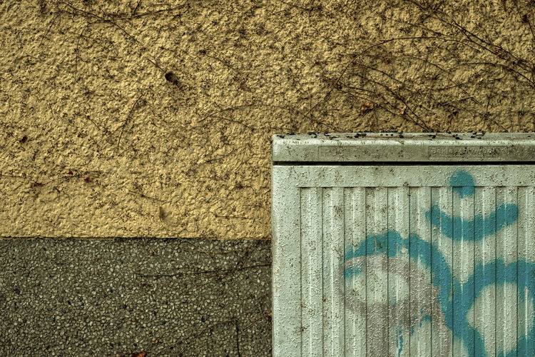 High angle view of weathered wall
