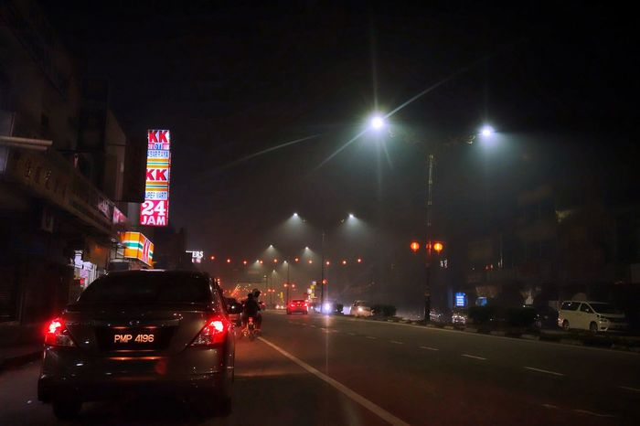 Late Night. Throwback Chinese New Year Late Night After Firework 24 Hours 7Eleven  Speedmart Malaysia Light Light And Shadow
