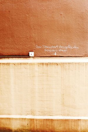 Some weirdo with ocd writing on the wall Wall Chalk Inscription Ocd Light Switch Shades Of Brown Brunswick Braunschweig