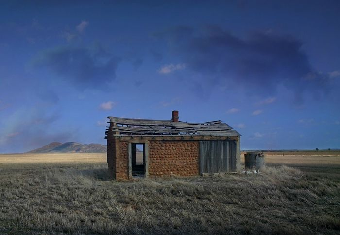 Abandoned Agriculture Architecture Building Exterior Built Structure Cloud - Sky Day Field Grass Landscape Nature No People Outdoors Rural Scene Sky