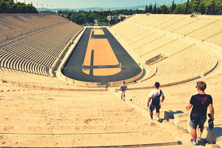 Vanishing Point Athens, Greece Panathenaicstadium Firstolympicgames in 1896 multi-purpose stadium Greece