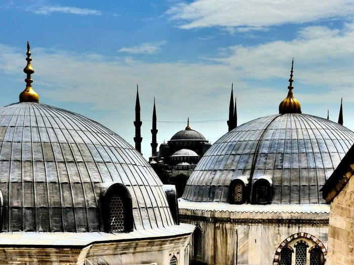 Dome Mosque The Top  of Hagia Sophia and Blue Mosque Sultanahmet Religion Spirituality Symbol Place Of Worship Islam Building Exterior Cultures Vintage Historical Building Historic Istanbul Places 1001 Night Virgin  Architecture Built Structure Your Ticket To Europe Fairytales & Dreams Fairytale  An Eye For Travel