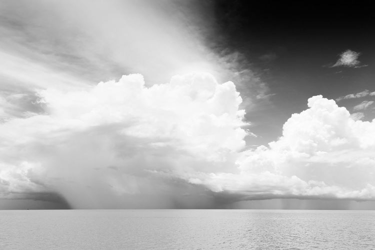Summer storm over the flodded Tonle Sap . Cambodia Ice Age