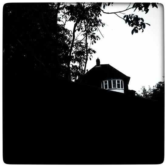 Creepy Monochrome Don't Go Back To The Old House manifestations Poltergeist Visions Haunted House