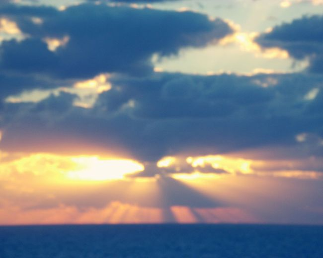 Caribbean sunset,Caribbean , sunset, clouds, clouds and sea, cruising , Traveling