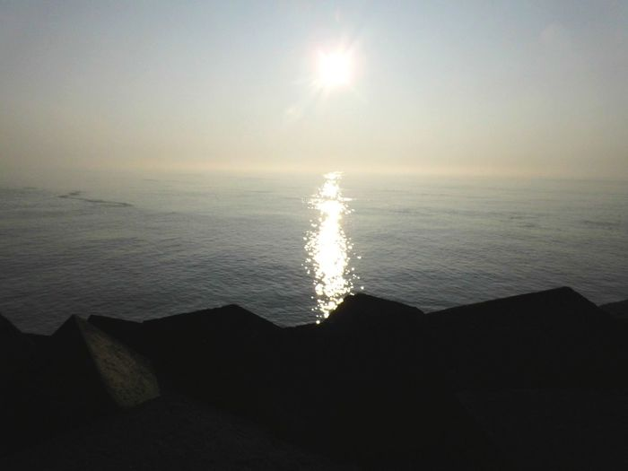 Water Sea Refraction Sunset Sun Beach Beauty Sky Horizon Over Water Seascape Tide Surf Coastal Feature Coastline Low Tide Coast Wave