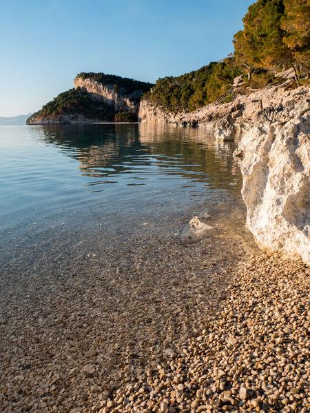 Hidden pebble beach on Makarska riviera Adriatic Beach Beauty In Nature Calm Coastline Croatia Day Hidden Holiday Landscape Mediterranean  Nature No People Outdoors Paradise Pebble Relax Scenic Scenics Sea Secret Summer Travel Vacation Water