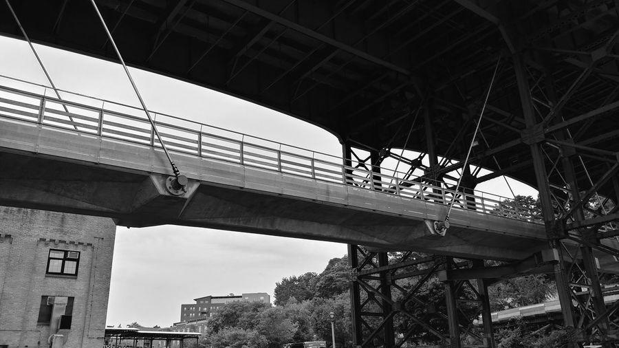 Milwaukee Bridge Bridge Milwaukee Overpass Under Bridge City Metal Industry Bridge - Man Made Structure Girder Sky Architecture Built Structure Steel Iron - Metal Wrought Iron